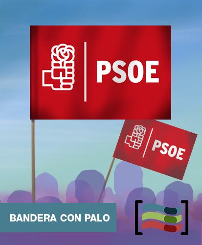 15 Banderas de mano con palo PSOE