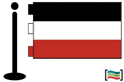 Bandera de Alto Volta sobremesa bordada