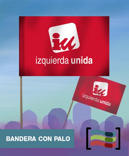 15 Banderas de mano con palo IU