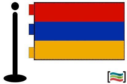 Bandera de Armenia sobremesa bordada