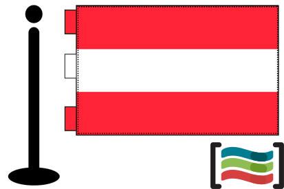 Bandera de Austria sobremesa bordada