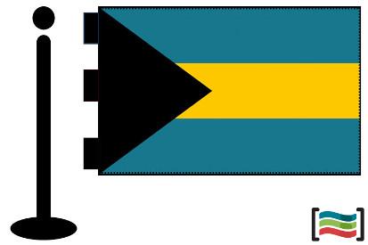Bandera de Bahamas sobremesa bordada