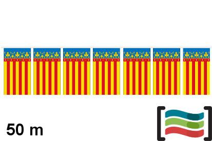 Banderines plástico Comunidad Valenciana 50m
