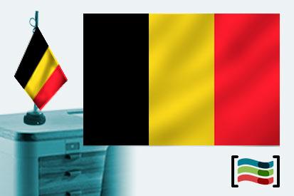 Bandera de Bélgica sobremesa bordada