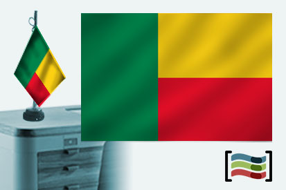 Bandera de Benin sobremesa bordada