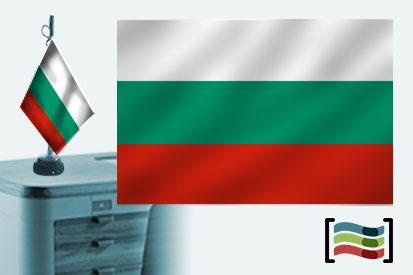 Bandera de Bulgaria s/e sobremesa bordada