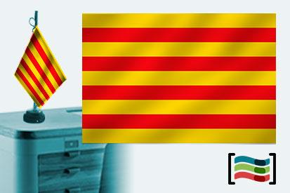 Bandera de Cataluña sobremesa bordada