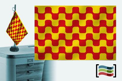 Bandera de Tarragona sobremesa bordada