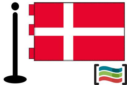 Bandera de Dinamarca sobremesa bordada