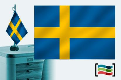 Bandera de Suecia sobremesa bordada