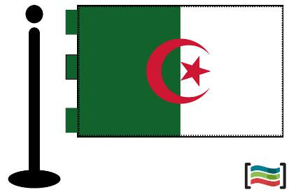 Bandera de Argelia sobremesa bordada