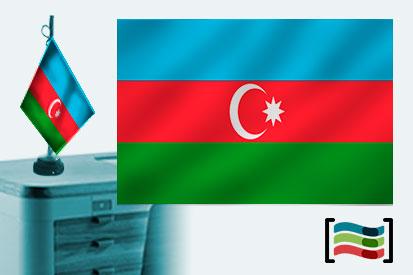 Bandera de Azerbaiyán sobremesa bordada