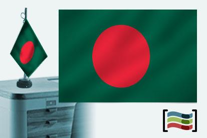 Bandera de Bangladesh sobremesa bordada