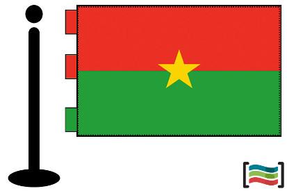 Bandera de Burkina Faso sobremesa bordada