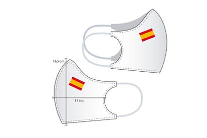 Mascarilla personalizada con bandera