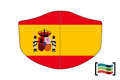 Mascarilla de España con escudo