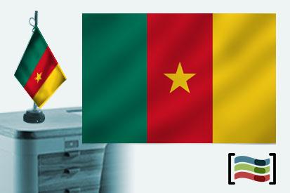 Bandera de Camerun sobremesa bordada