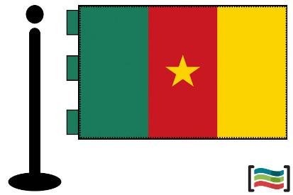 Bandera de Camerum sobremesa bordada