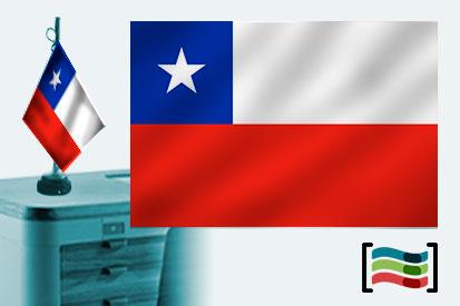 Bandera de Chile sobremesa bordada
