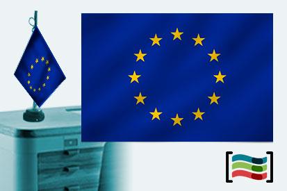 Bandera de Europa sobremesa bordada