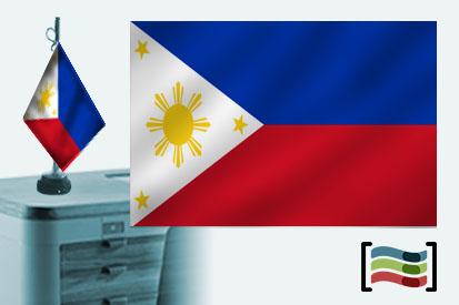 Bandera de Filipinas sobremesa bordada