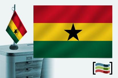 Bandera de Ghana sobremesa bordada