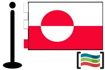 Bandera de Groelandia sobremesa bordada