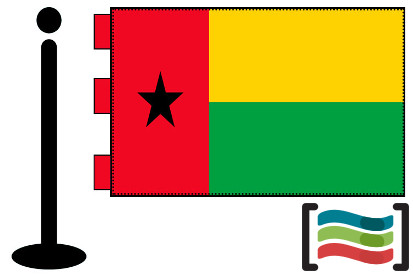 Bandera de Guinea-Bissau sobremesa bordada