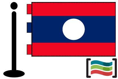 Bandera de Laos sobremesa bordada