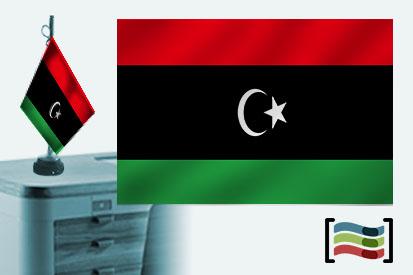 Bandera de Libia sobremesa bordada