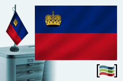 Bandera de Liechtenstein sobremesa bordada