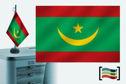 Bandera de Mauritania sobremesa bordada