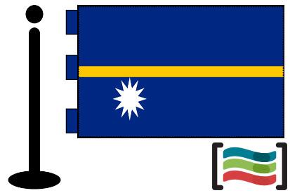 Bandera de Nauru sobremesa bordada