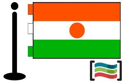 Bandera de Niger sobremesa bordada