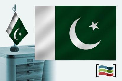Bandera de Pakistán sobremesa bordada