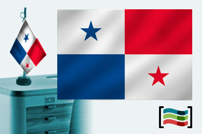 Bandera de Panamá sobremesa bordada