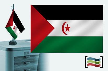 Bandera de Sahara sobremesa bordada