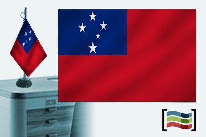 Bandera de Samoa Occidental sobremesa bordada