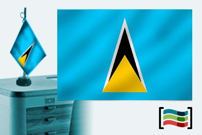 Bandera de Santa Lucia sobremesa bordada