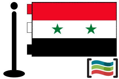 Bandera de Siria sobremesa bordada
