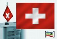Tovaglia ricamata bandiera della Svizzera