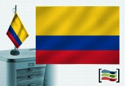 Flag of Colombia s / e embroidered table lamp