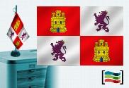 Bandera de Castilla y León sobremesa bordada