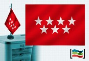 Bandera de Comunidad de Madrid sobremesa bordada