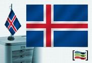Bandera de Islandia sobremesa bordada