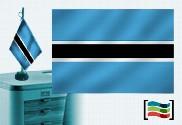 Bandiera della tovaglia ricamata del Botswana