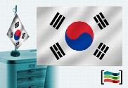 Flag of South Korea embroidered tablecloth