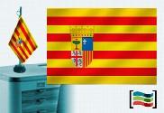 Bandera de Aragón sobremesa bordada