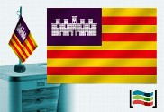 Bandera de Baleares sobremesa bordada