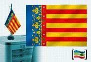 Bandera de Comunidad Valenciana sobremesa bordada